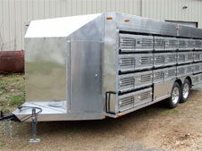 Pigeon trailer close-up side